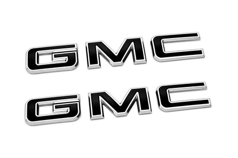 Front & Rear GMC Sierra Emblems in Black