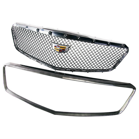 16-18 V Series Black Chrome Grille