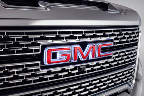 Illuminated GMC Emblem in Red
