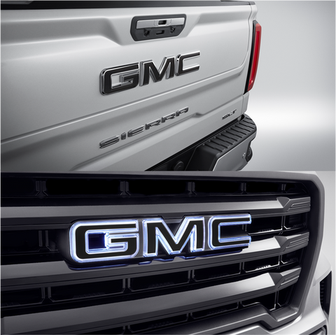 Illuminated Black GMC Emblem Package