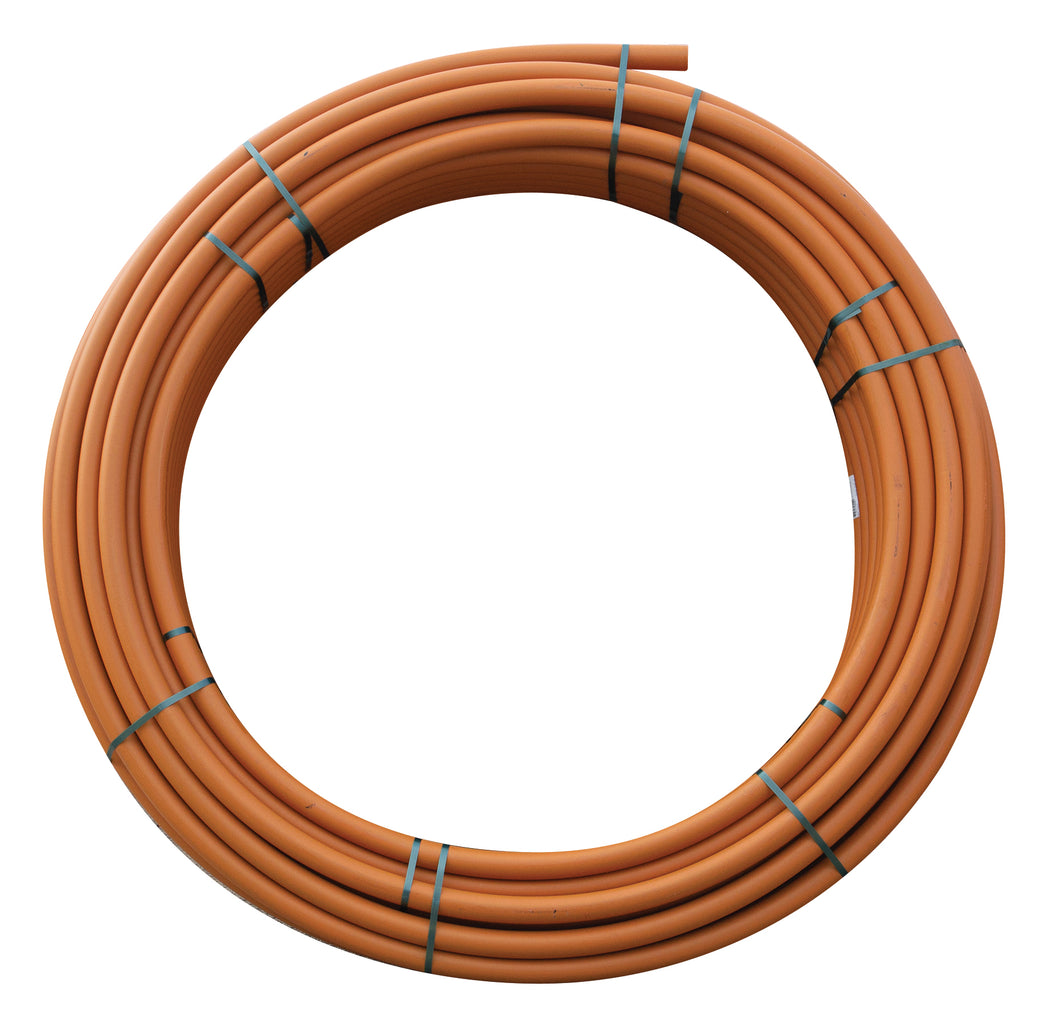 125mm x 100m Electrical Bore Poly Pipe Orange Coil (Class 12.5 SDR13.6 PE100)