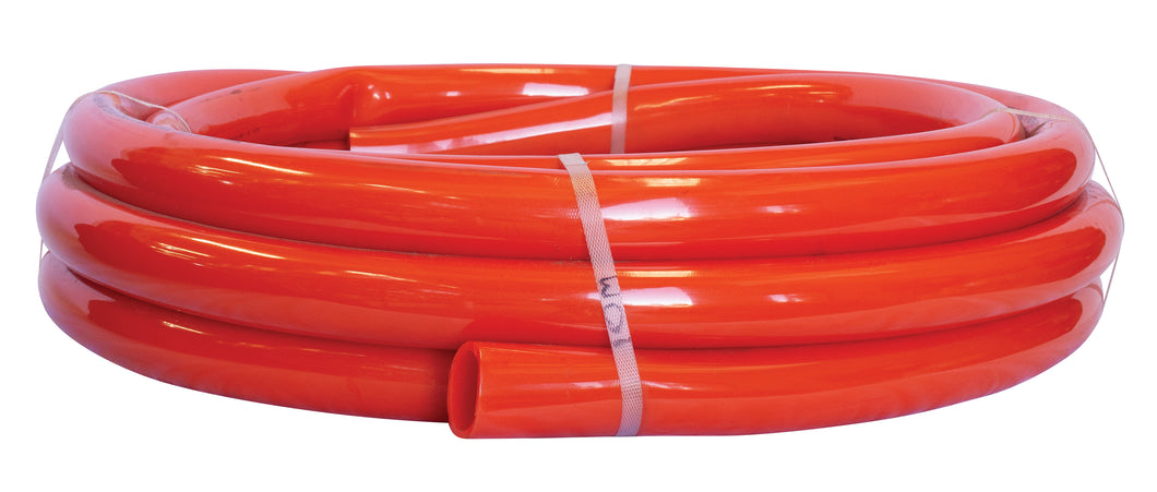20mm x 30m Flexacon PVC Flexible Electrical Orange Conduit Coil