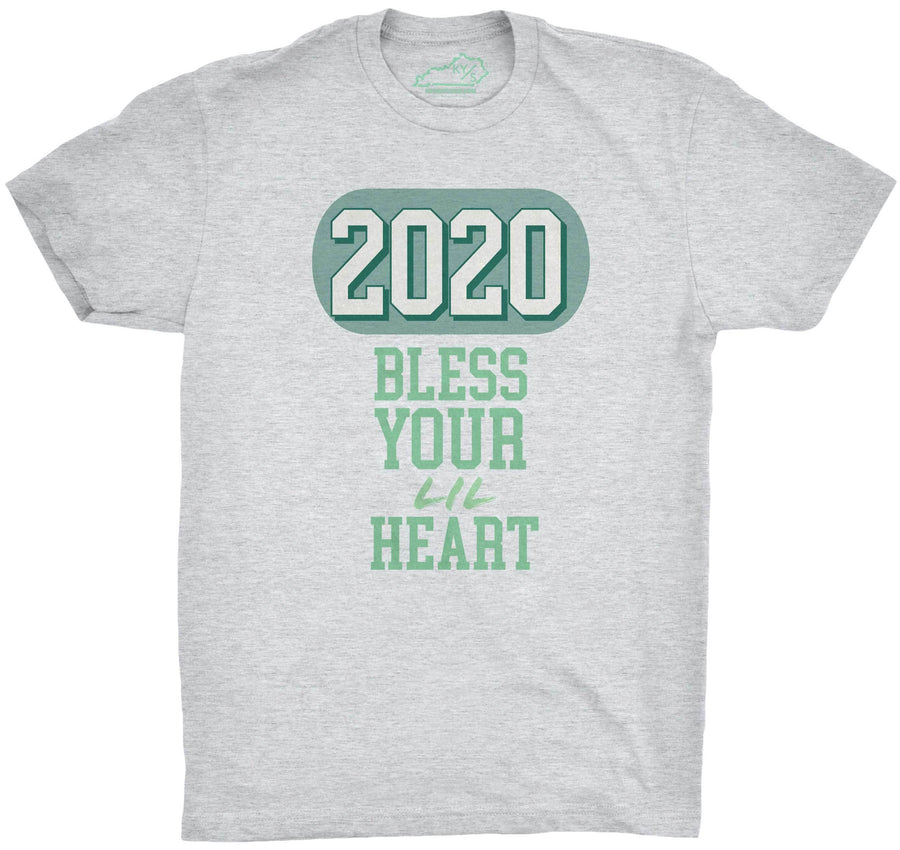 2020 Bless Your Lil Heart Tshirt Heather Grey
