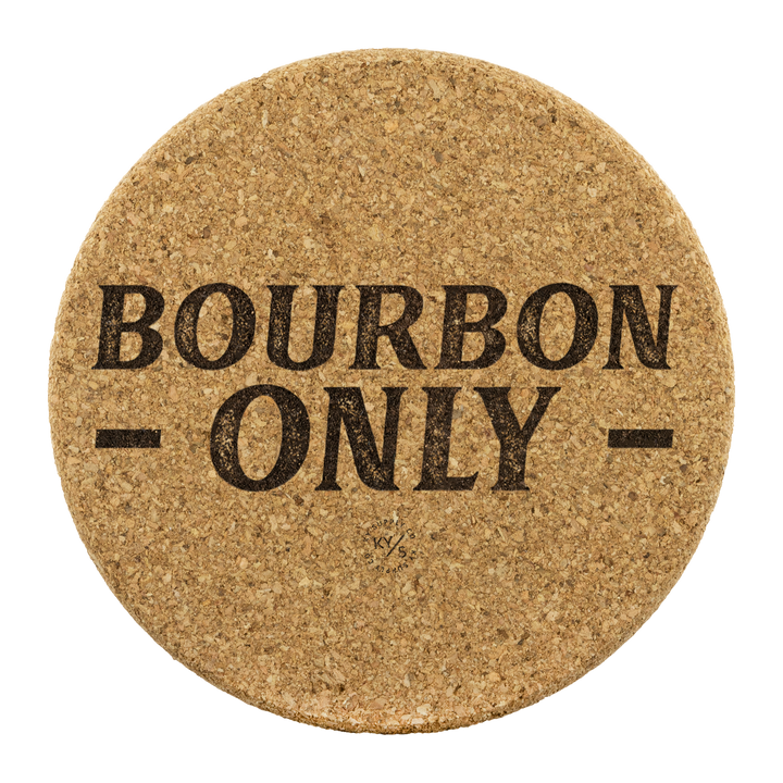 Bourbon Only Cork Coasters