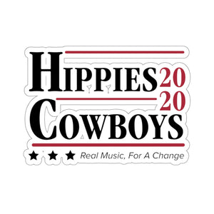 HIPPIES and COWBOYS 2020 STICKER