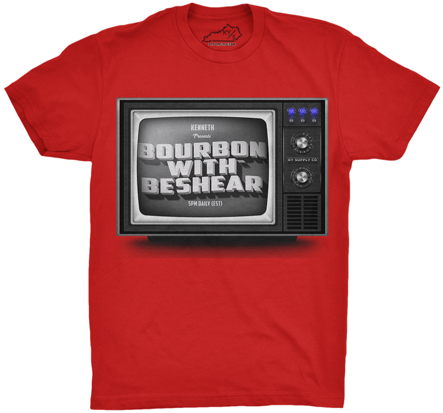 Bourbon With Beshear Tshirt Red