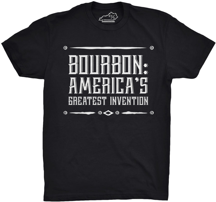 BOURBON: AMERICA'S GREATEST INVENTION TSHIRT Black