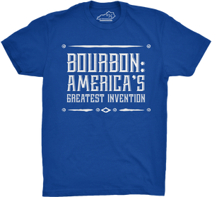 BOURBON: AMERICA'S GREATEST INVENTION TSHIRT Royal