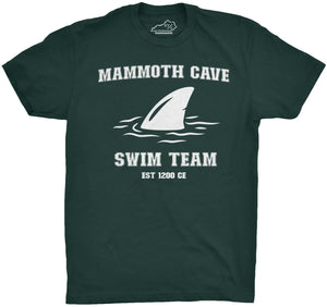 Mammoth Cave Swim Team Tshirt Forest Green