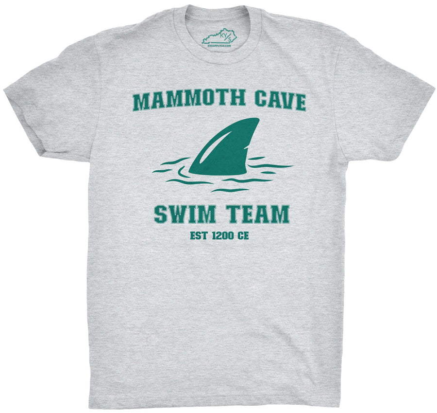 Mammoth Cave Swim Team Tshirt Heather Grey