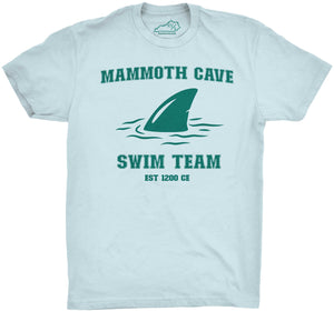 Mammoth Cave Swim Team Tshirt Light Blue