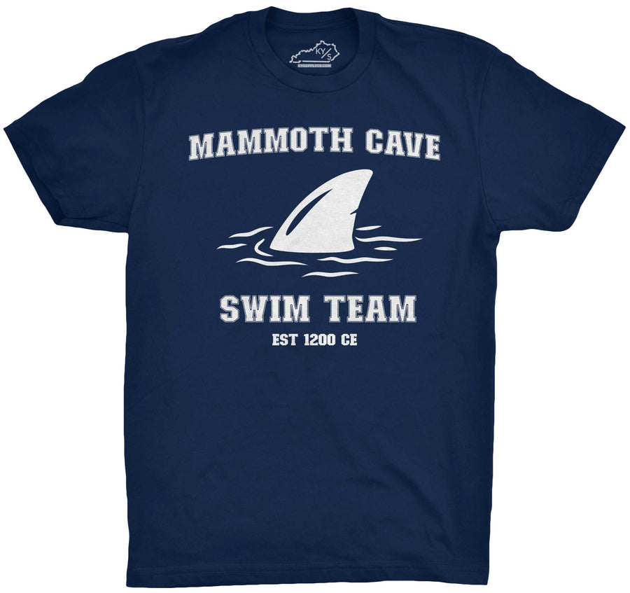 Mammoth Cave Swim Team Tshirt Navy