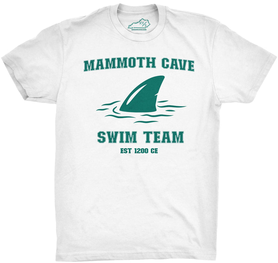 Mammoth Cave Swim Team Tshirt White