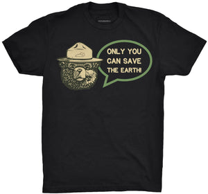 Only You Can Save the Earth Tshirt Black