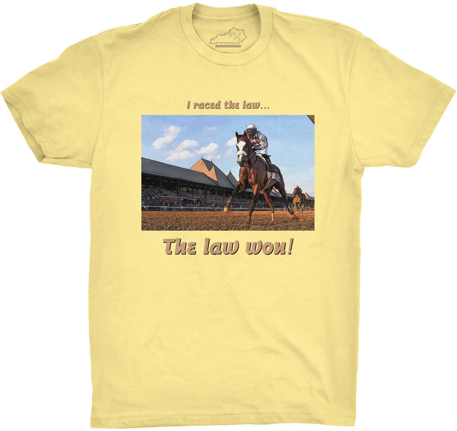 The Law Won Tshirt Banana Cream