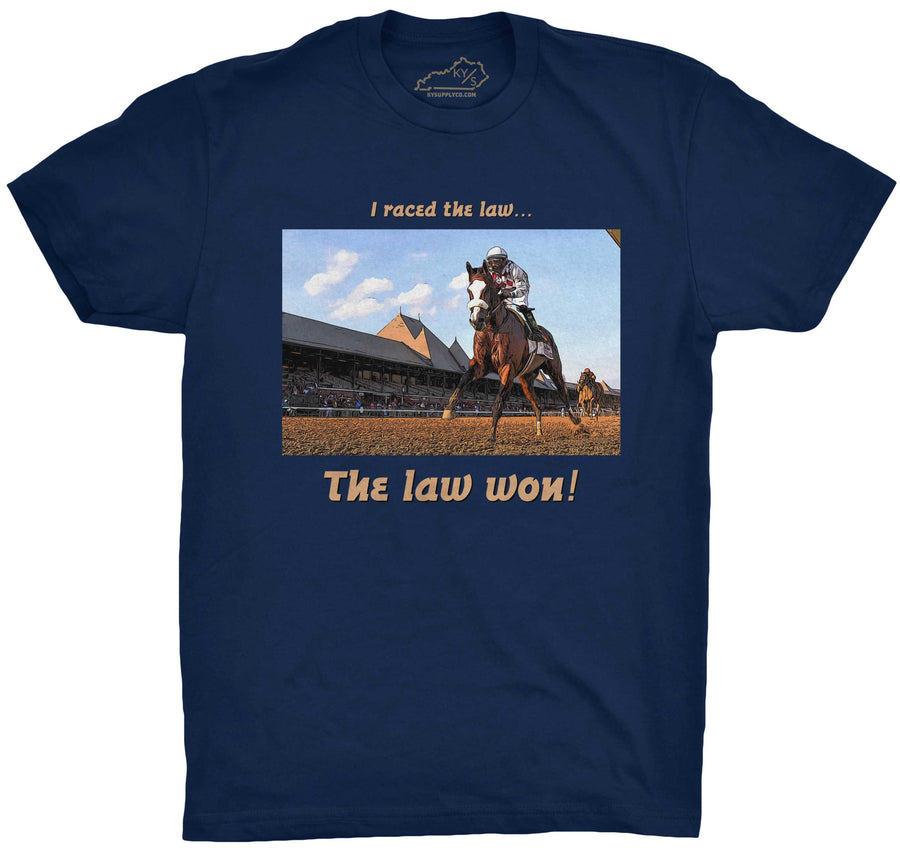 The Law Won Tshirt Navy