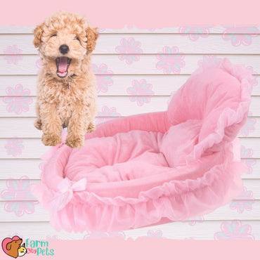 Pink Princess Bassinet Bed - Fast US Shipping!