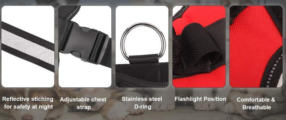 Custom No Pull Reflective Harness - Fast US Shipping