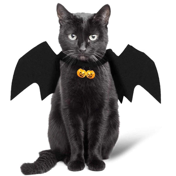 Black Bat Cat Wings - FarmCityPets