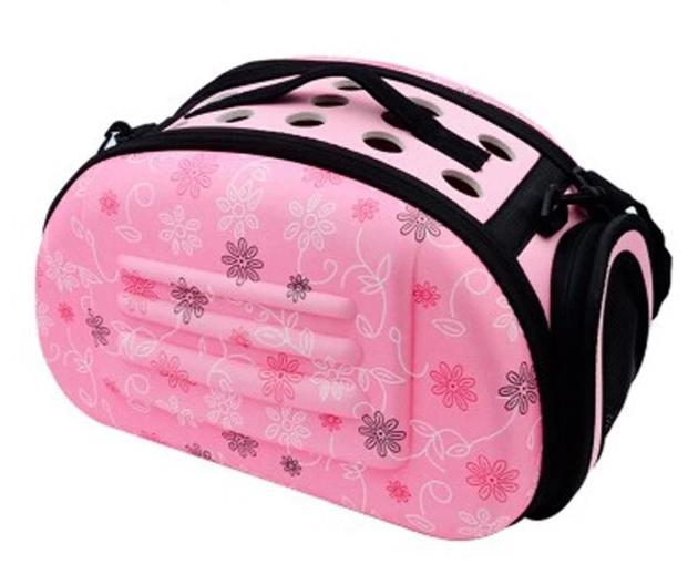 Fashionable Flowers Folding Dog Carrier - FarmCityPets