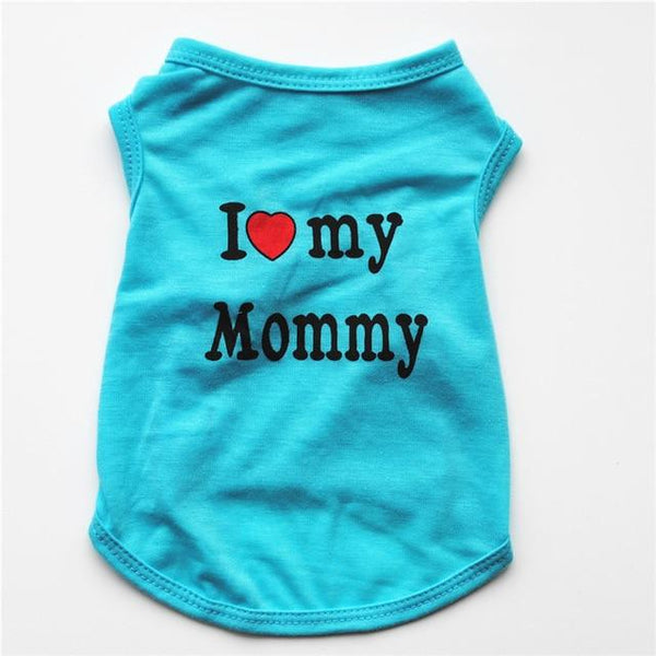 I ♥ Mommy & Daddy Fleecy Suit - FarmCityPets