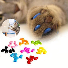 Multi-Color Cat Nail Caps (20PCS) FarmCityPets
