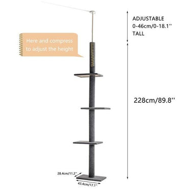 Tall Straight Tree - Ultimate Cat Tree - US stock! (LIMITED TIME)