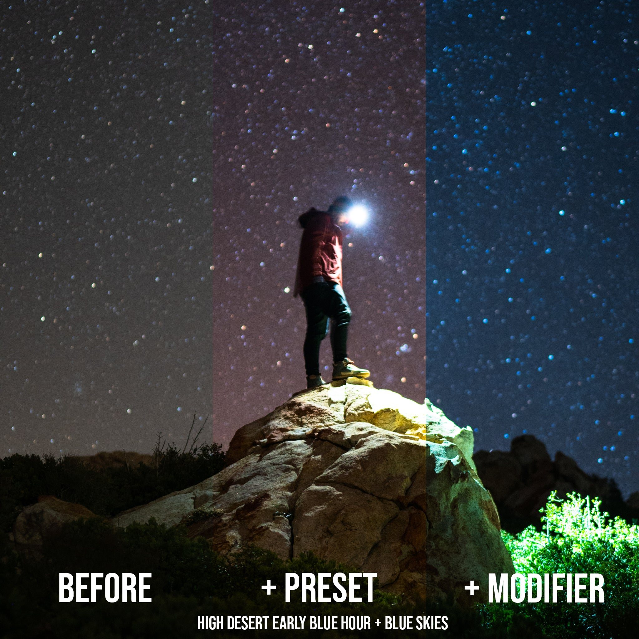 Astrophotography Presets for Lightroom BUNDLE - Starlight & Galactic Preset Collections + Exclusive Brushes + Comet Preset Bonus
