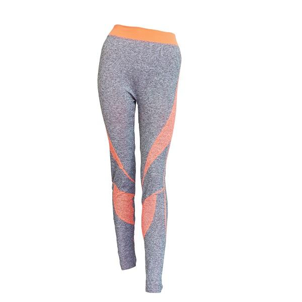 Orange & Grey Gym Leggings
