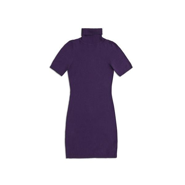Purple Turtle Neck Dress