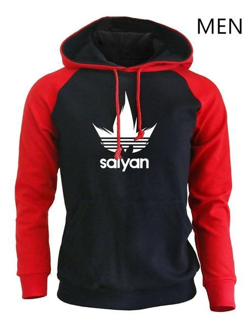 Dragon Ball Z Hoodies Sayan x Adidas Two Tone Hoodie