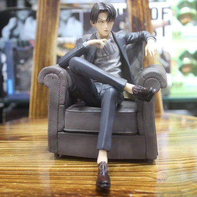 Toys & Hobbies New Arrival Japanese Anime Attack On Titan Levi Ackerman Sitting Sofa Ver Pvc Model Action Figure 15cm Collection Doll Brand New