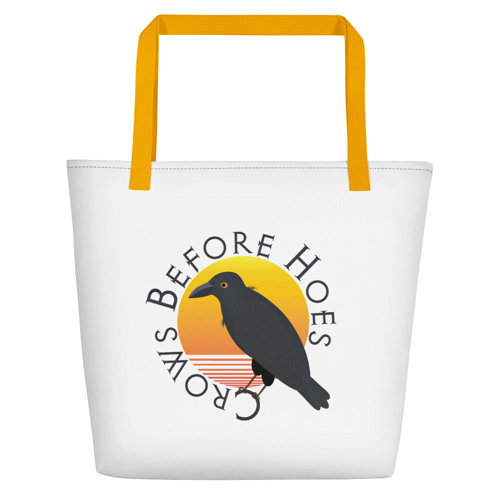 Crows Before Hoes Beach Bag