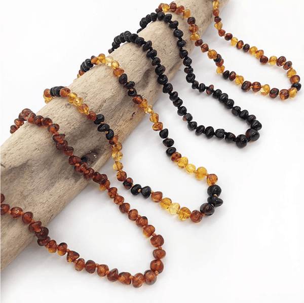 Amber Teething Necklace - West Coast Zippies