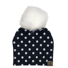 Load image into Gallery viewer, West Coast Zippies  Polka Dots Cotton Printed Pompom Toques