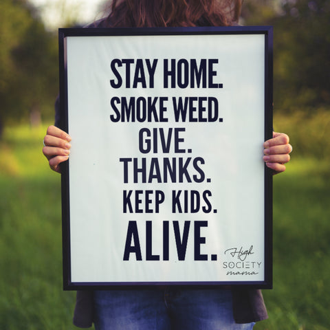 Quarantine Tasks for parents smoke weed
