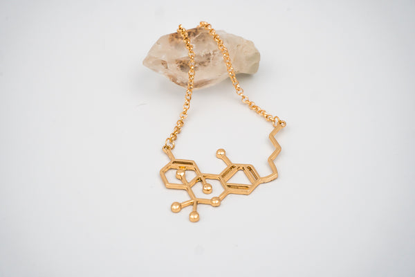 Gold Bling THC Molecule Necklace - highsocietymama.myshopify.com [hemp_cbd]