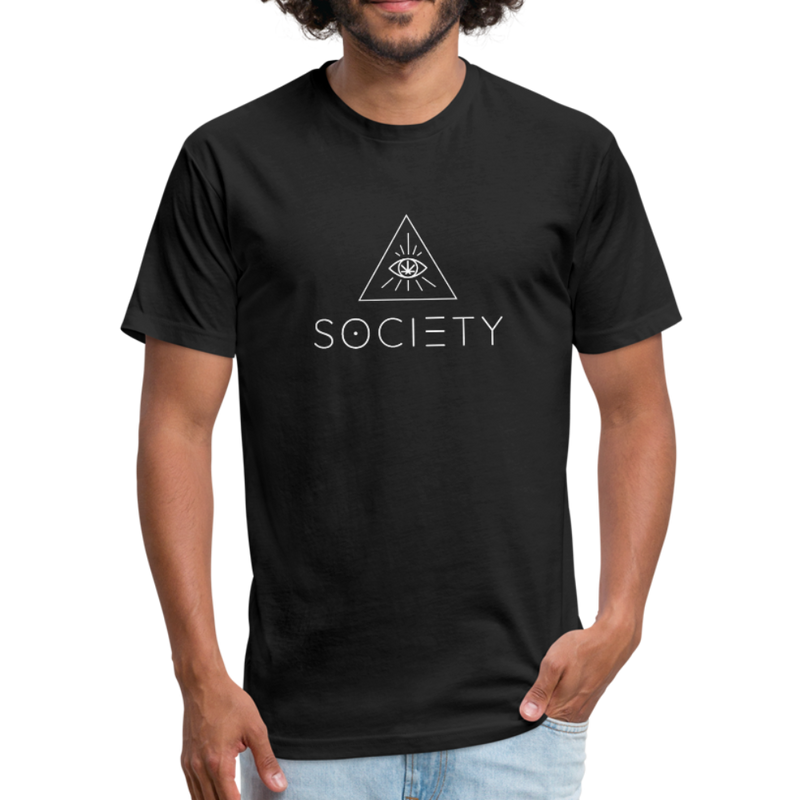 Men's SOCIETY Fitted Cotton/Poly T-Shirt by Next Level - black