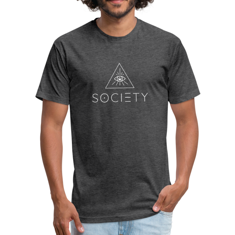 Men's SOCIETY Fitted Cotton/Poly T-Shirt by Next Level - heather black