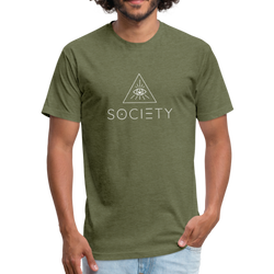 Men's SOCIETY Fitted Cotton/Poly T-Shirt by Next Level - heather military green