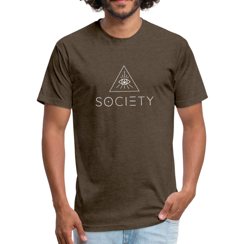 Men's SOCIETY Fitted Cotton/Poly T-Shirt by Next Level - heather espresso
