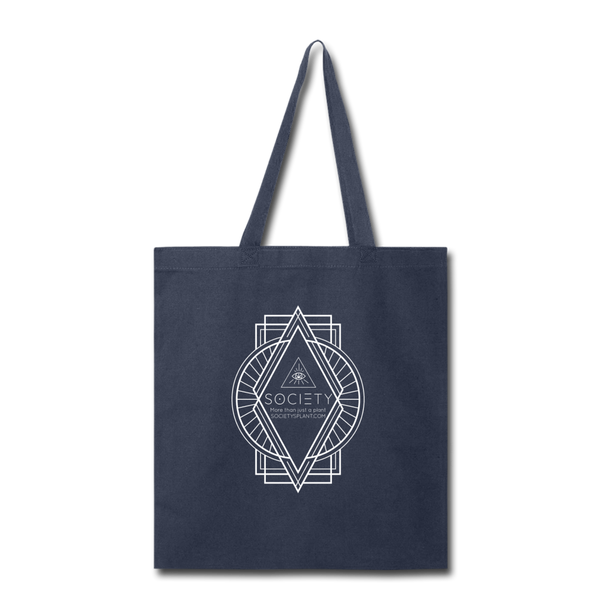 SOCIETY Diamond Tote Bag - navy