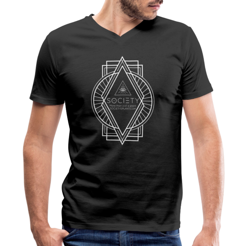 Society Diamond Men's V-Neck T-Shirt - black