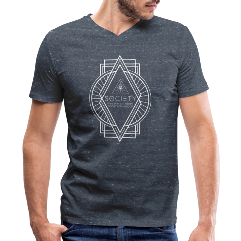 Society Diamond Men's V-Neck T-Shirt - heather navy