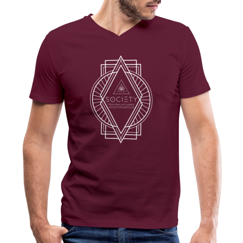 Society Diamond Men's V-Neck T-Shirt - maroon