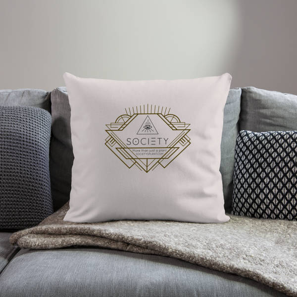 "Society Geo Arrow Throw Pillow Cover 18"" x 18"" - light taupe"