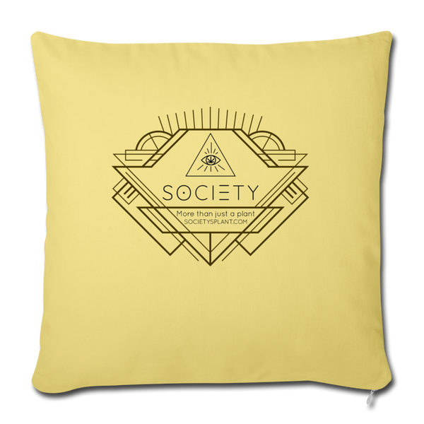 "Society Geo Arrow Throw Pillow Cover 18"" x 18"" - washed yellow"