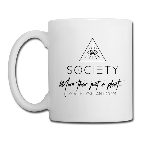 Society Geo Arrow - More than just a plant Coffee/Tea Mug - white