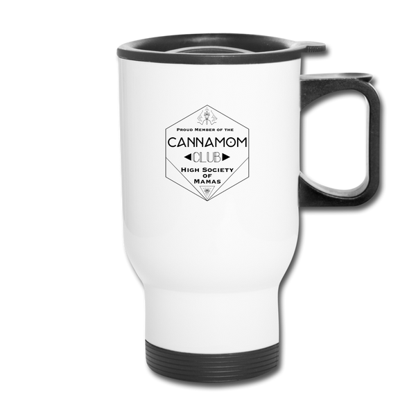 CannaMom Club Travel Mug - white