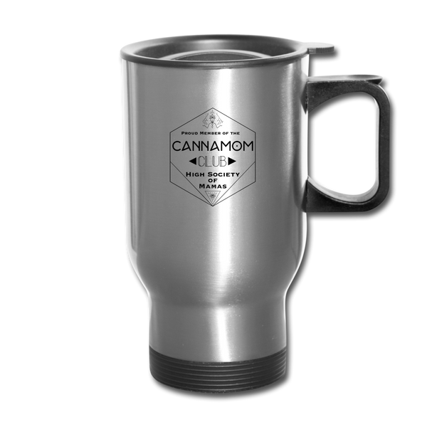 CannaMom Club Travel Mug - silver